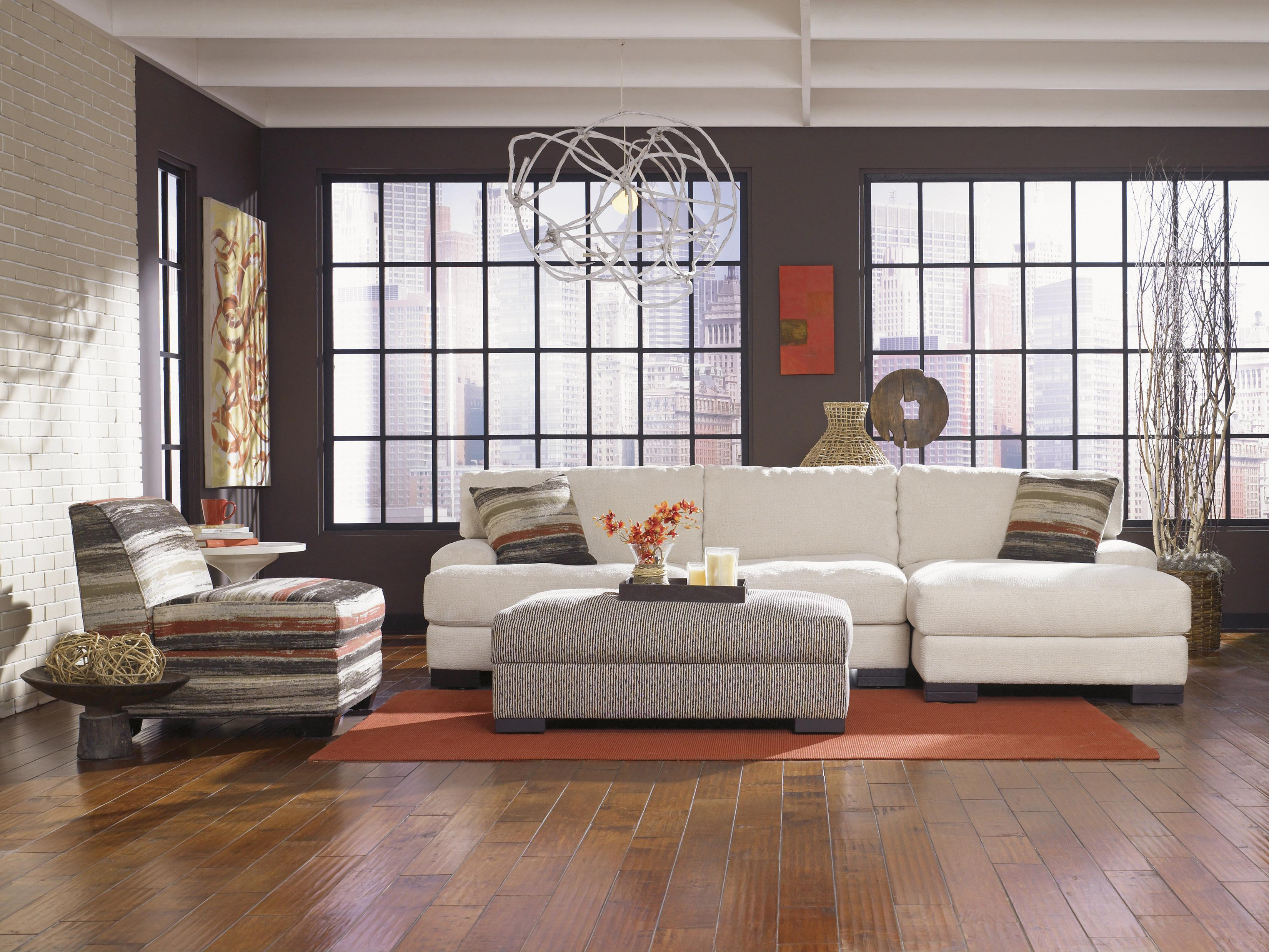 Lindy Modern Sofa with Low Track Arms and Exposed Wood Feet