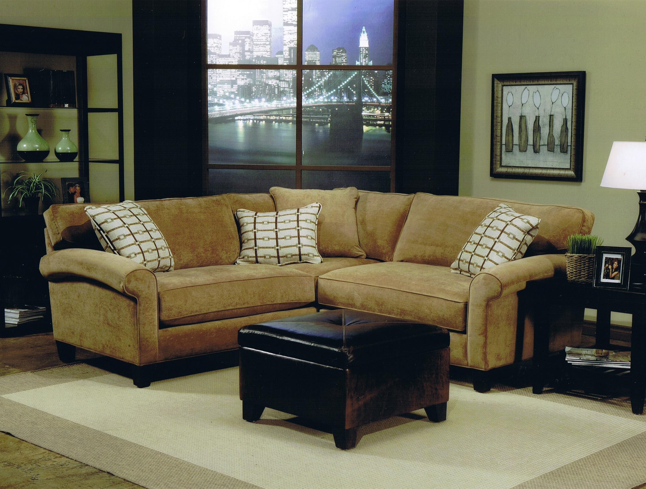 Jonathan Louis Knobhill Condo Stationary Sofa Sectional Marlo