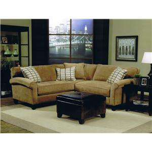 Jonathan Louis Knobhill Condo Stationary Sofa Sectional