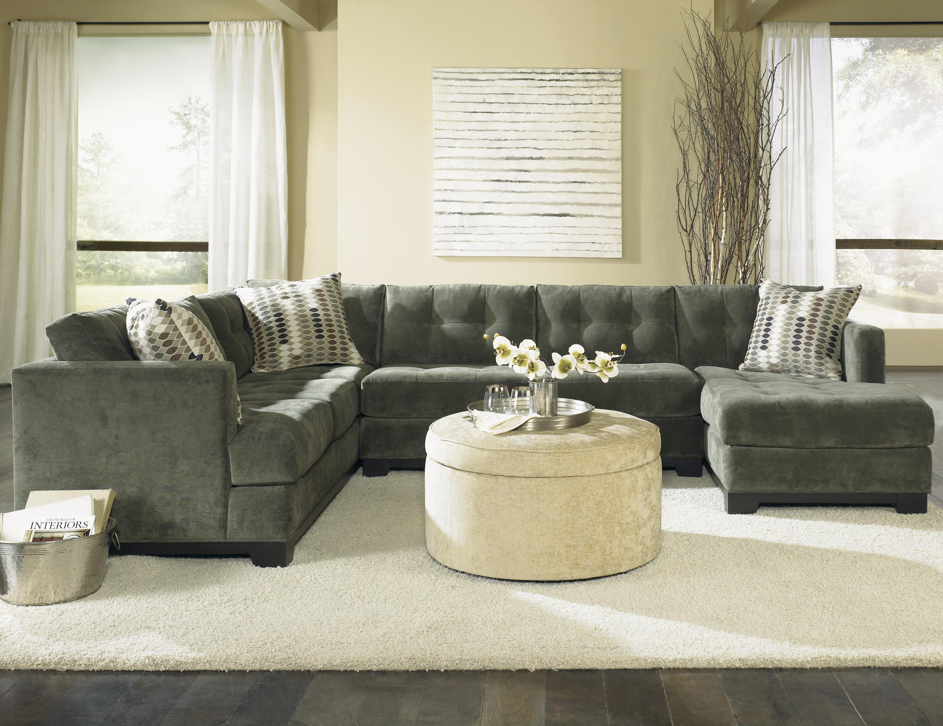Jonathan Louis Landon Modern Sectional Sofa With Button Tufted