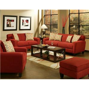 Gentil Jonathan Louis Lauren Contemporary Matching Upholstered Ottoman