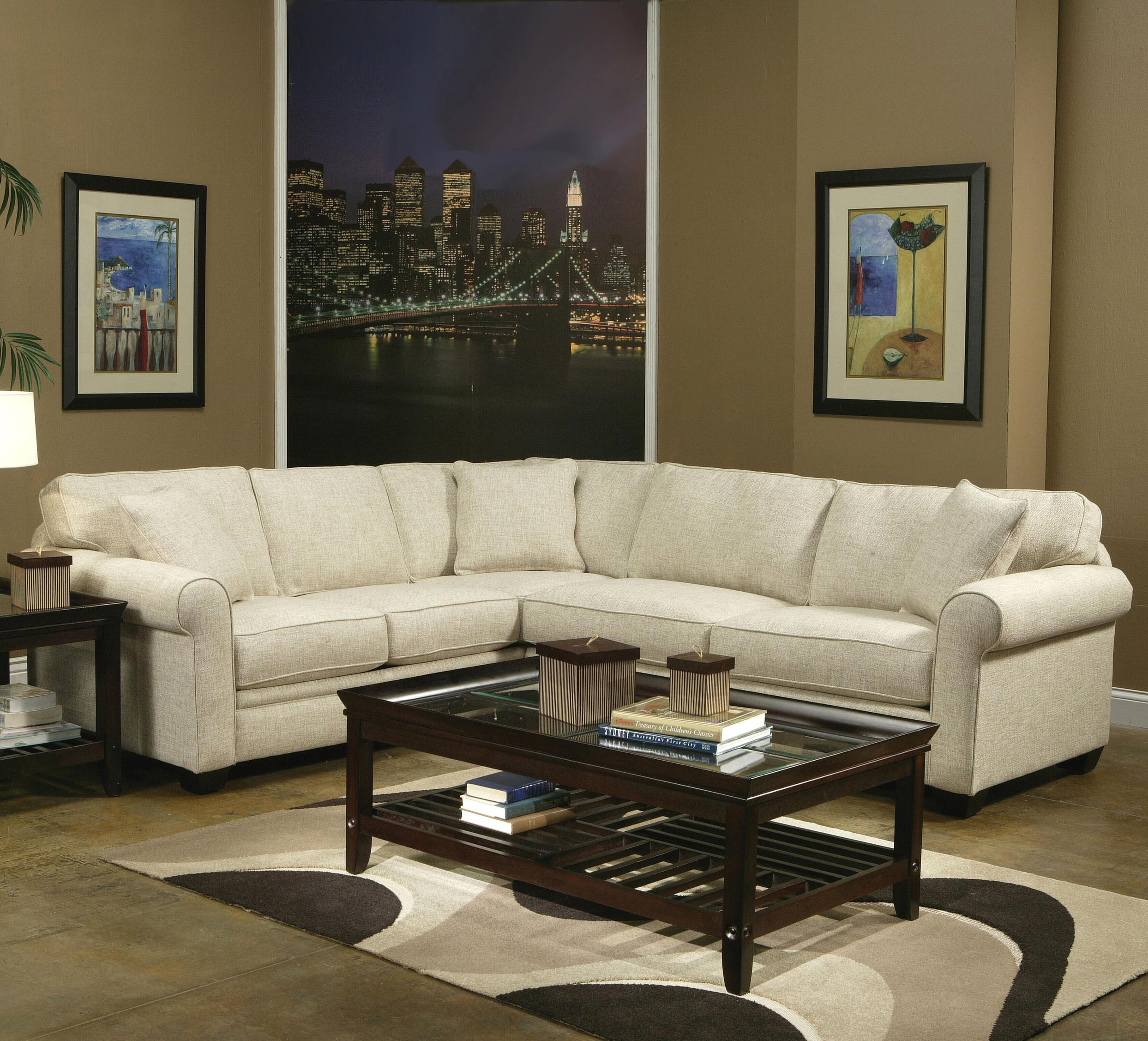 Hula Hula 2 Piece Sectional w Roll Arms Rotmans Sectional