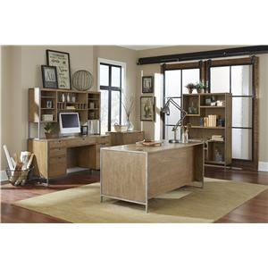 kathy ireland Home by Martin Belmont 7 Drawer Desk with Hidden Shelf