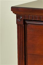 Fluted Pilasters, Dentil and Crown Mouldings