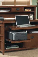 Pullout Laptop Surface in Internet Credenza