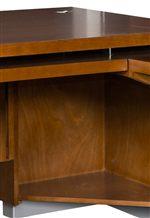 Discreet Under Desk Corner Shelf for Printer Storage