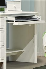 Pull-Out Drop Front Drawer on Desk
