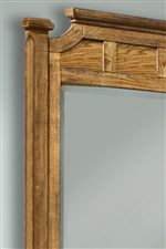 Mirror Shown with Wood Side of Reversible Panels