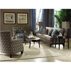 Kincaid Furniture Alston Contemporary Chair and Ottoman Set