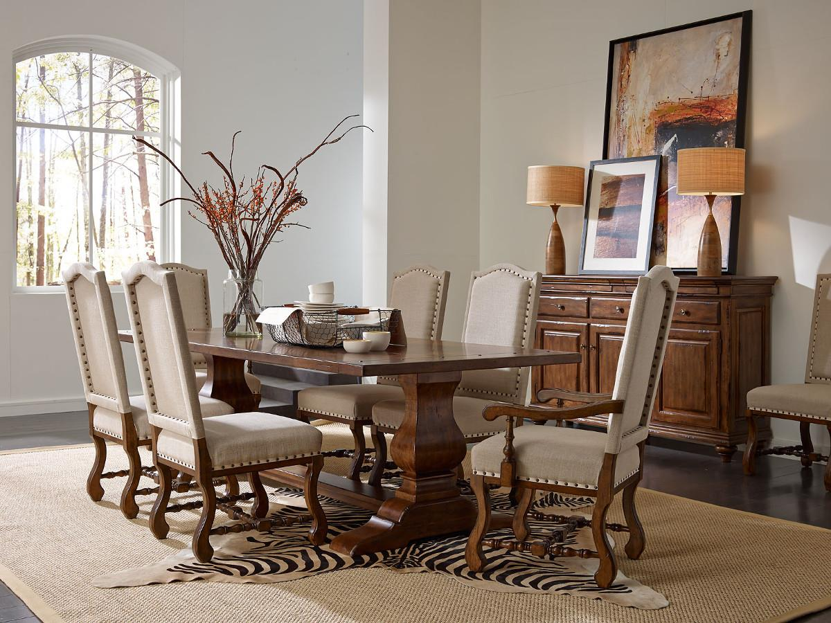 Traditional Wood Dining Tables kincaid furniture artisan's shoppe dining - tobacco traditional 44