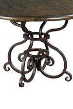 Ornate Scrolled Metal Table Bases