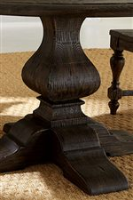 Traditionally-Carved Wood Pedestal Bases
