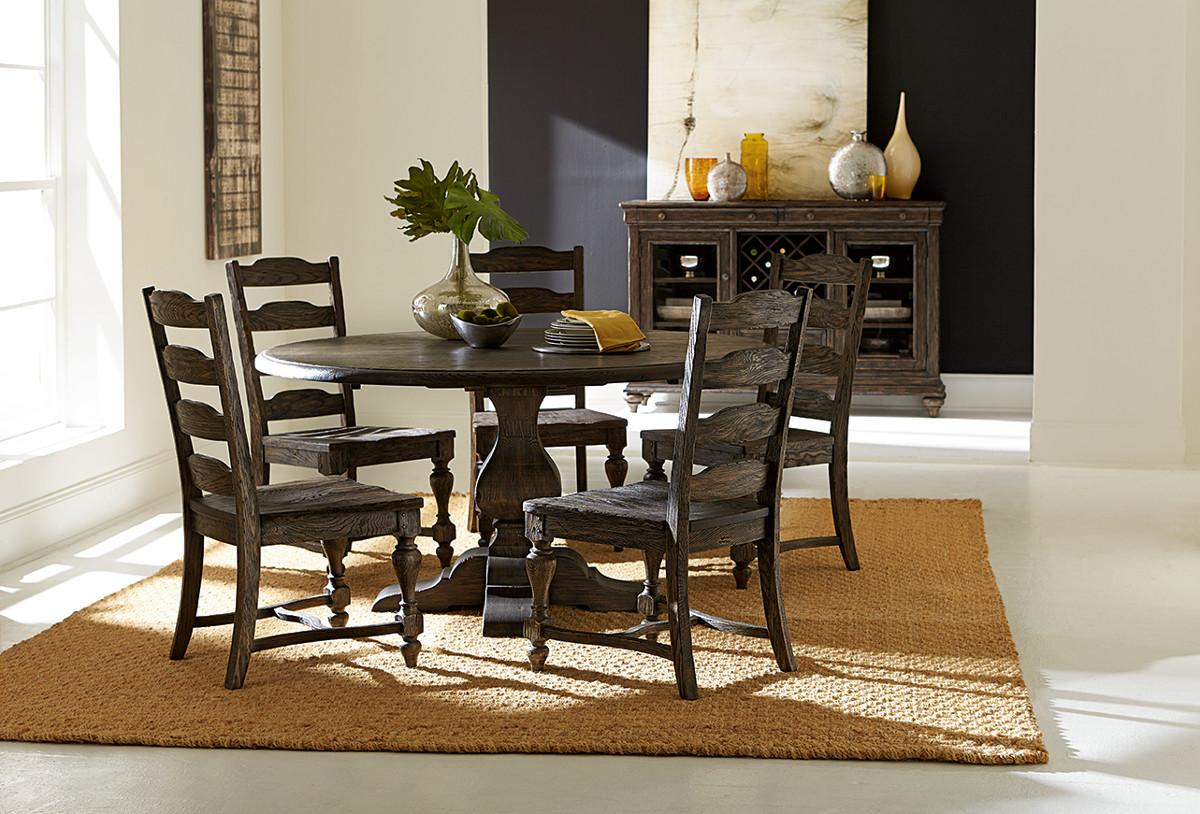 Kincaid Furniture Artisans Shoppe Dining Seven Piece Rectangular Table With Upholstered Banquette And French Side Chairs