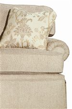 Rolled Arms and Welt Trimmed Cushions Create a Classic Silhouette