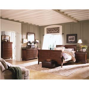 Kincaid Furniture Chateau Royale Queen Bed with Sleigh Headboard & Low Profile Footboard