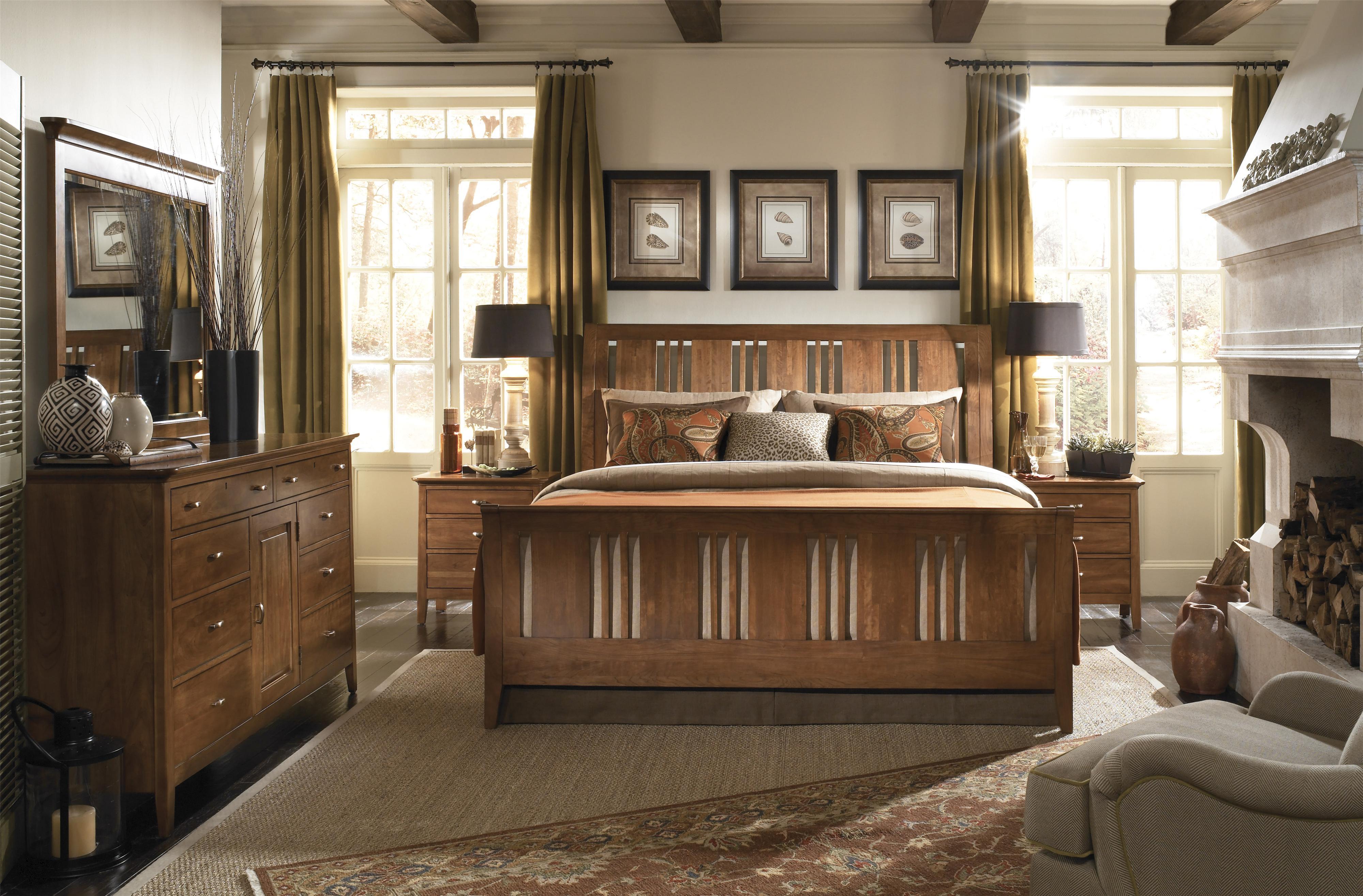 Kincaid Furniture Cherry Park e Drawer Open Nightstand
