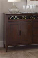 Buffet with Wine Bottle Storage