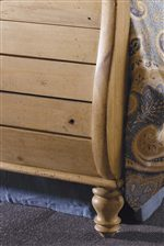 Sleigh Bed Plank Footboard and Beautifully Carved Legs