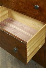 Drawers Lined with Aromatic Cedar Wood