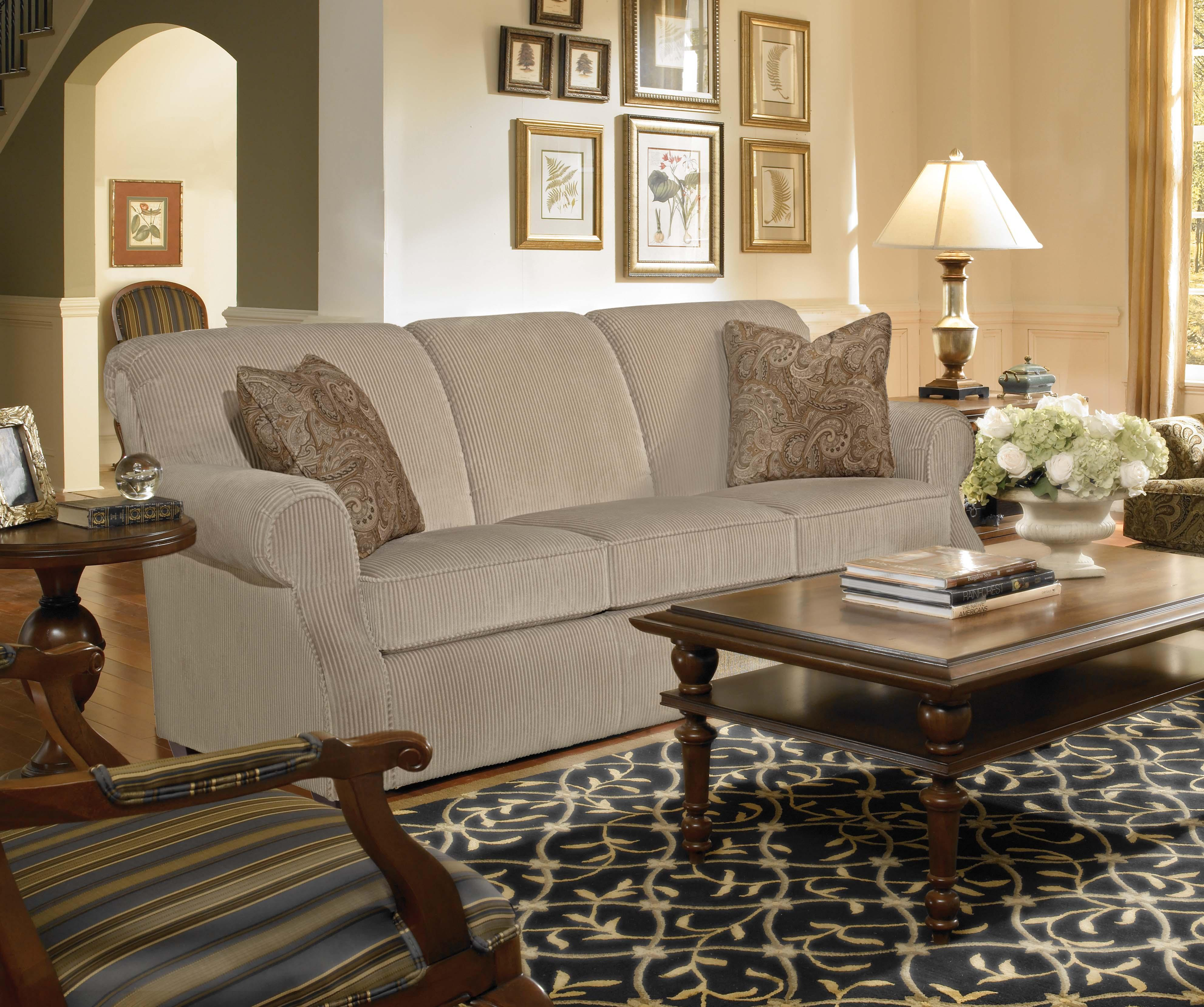 Kincaid Furniture Lynchburg Chair With Rolled Back And Tapered Wood Feet    Lindyu0027s Furniture Company   Upholstered Chair