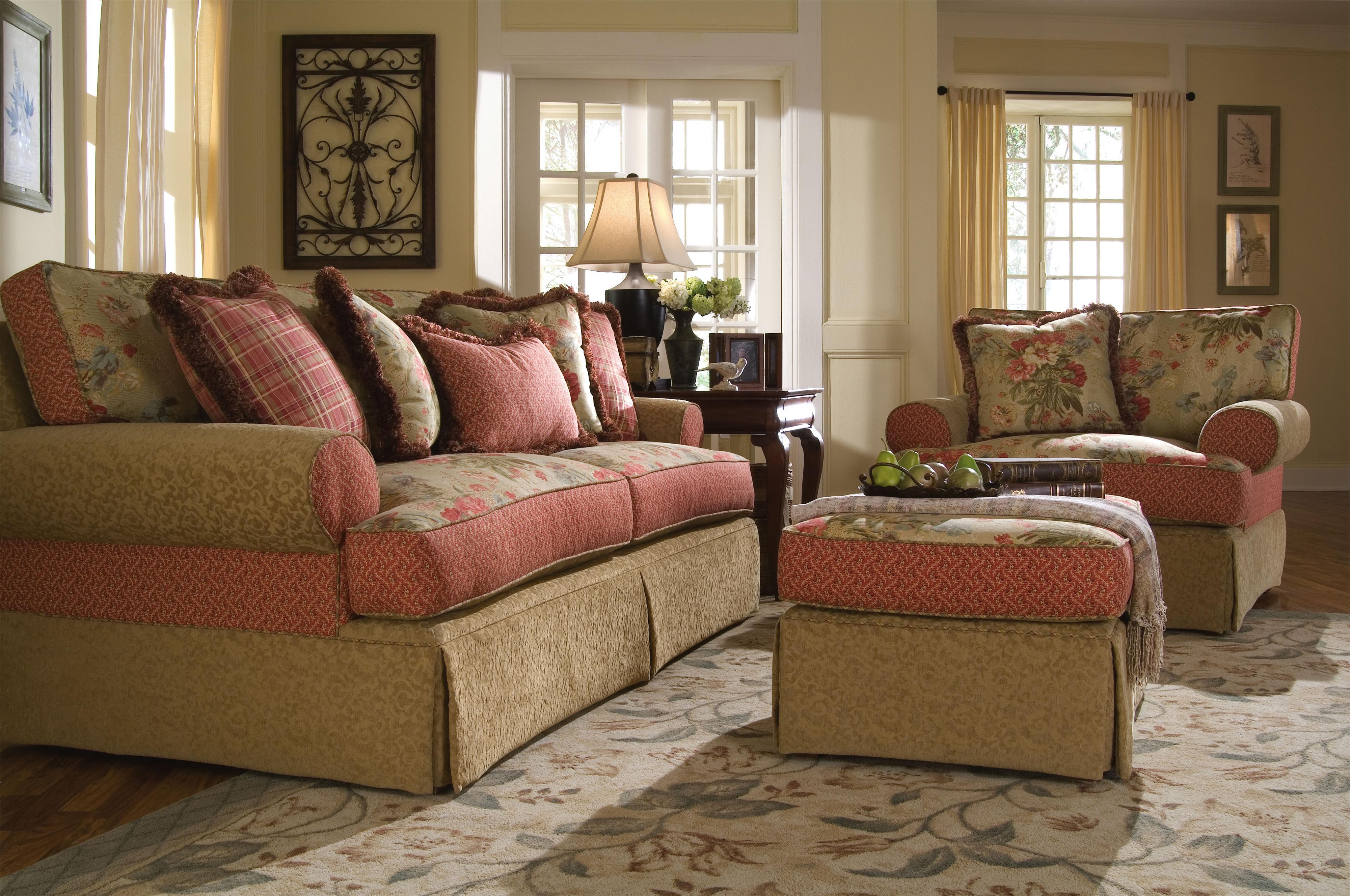 Lovely Kincaid Furniture Malibu Skirted Stationary Sofa   Lindyu0027s Furniture  Company   Sofa