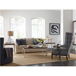 Kincaid Furniture Modern Classics Occasional Tables Transitional Round Chairside Table with Concrete Top
