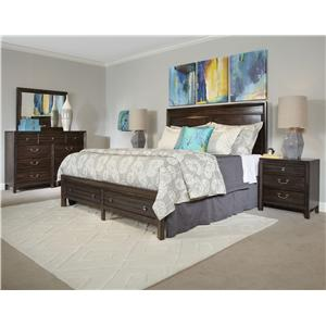 Kincaid Furniture Montreat Contemporary Saxony Dresser and Montreat Mirror Set with Self-Close Drawers