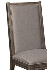 Side Chairs Available with Slatted Backs or Fabric Upholstery