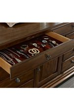 Felt-Lined Jewelry Tray Is Part of Basilica Door Dresser
