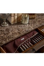 Some Dining Pieces Include Felt-Lined Silverware Storage