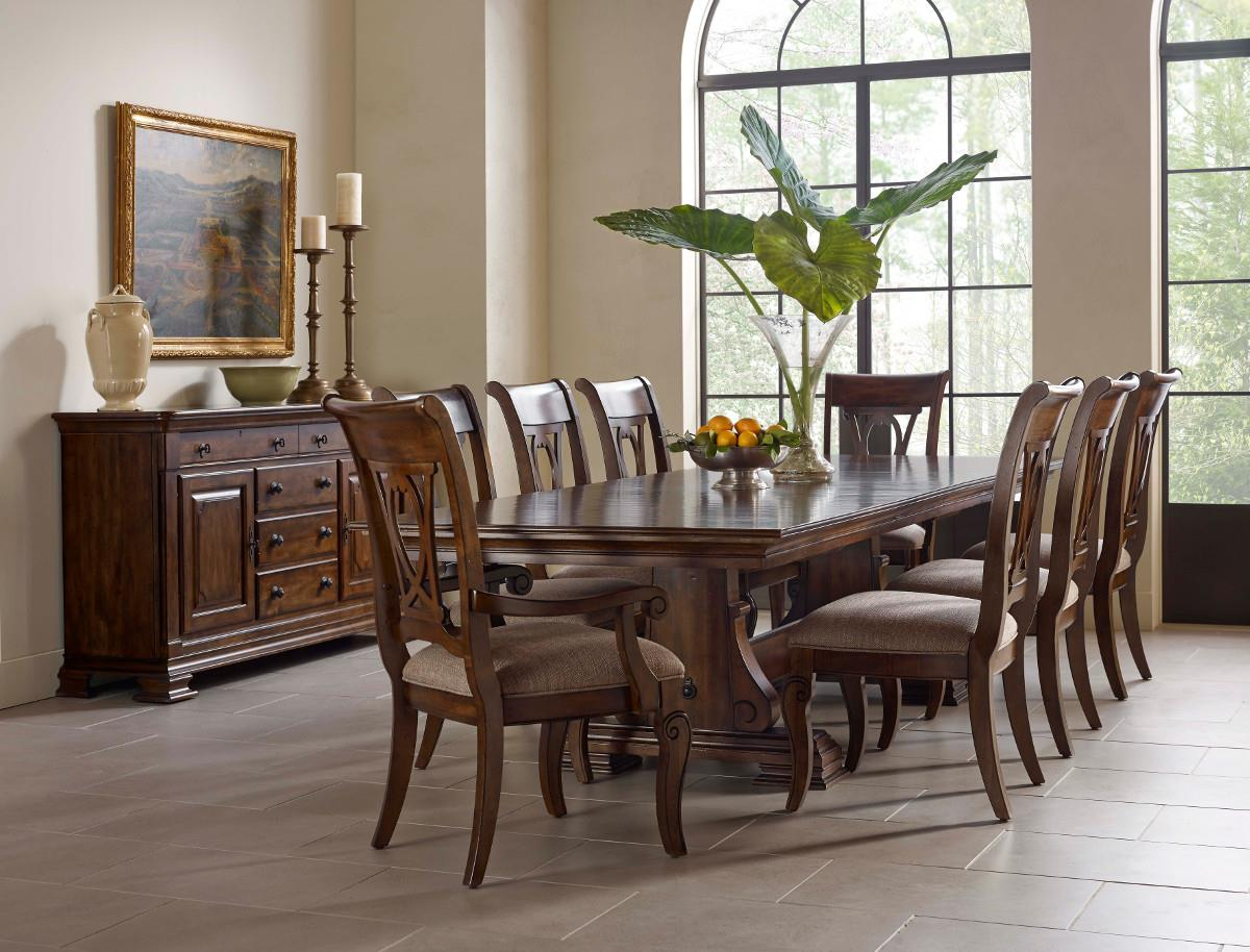 Kincaid Furniture Portolone Formal Dining Room Group   Item Number: 95 Dining  Room Group 4