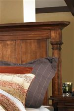 The Somerton Bed is Decorated with Turned Pilasters