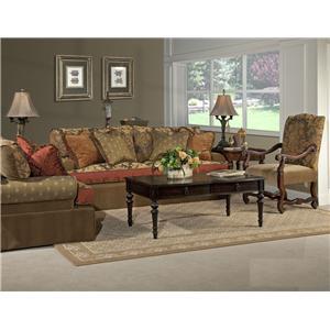 Kincaid Furniture Tulsa  Skirted Chair and a Half