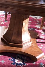 Elegant Shaped Pedestal Base with Scroll Feet