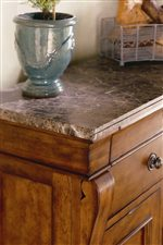 Select Pieces Feature Luxurious Textural Marble Tops
