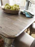 The Canterbury Table Features Soft, Rounded Edges on its Rectangular Top