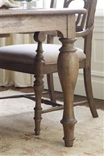 Beautiful Turned Legs on the Canterbury Dining Table