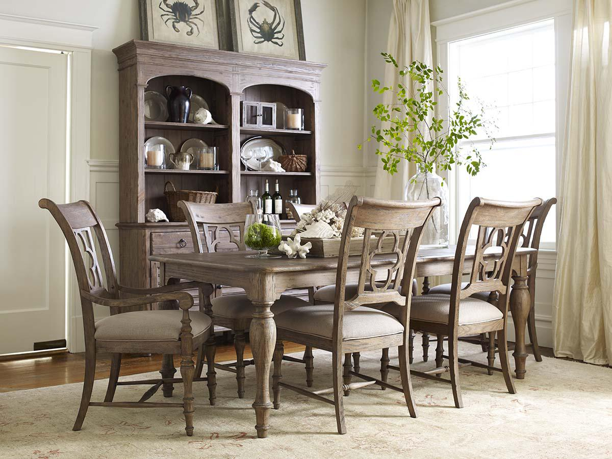 Kincaid Furniture Weatherford 7 Piece Dining Set With Canterbury Table And Quatrefoil Back Chairs
