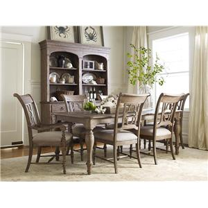 Kincaid Furniture Weatherford Arm Chair with Quatrefoil Back