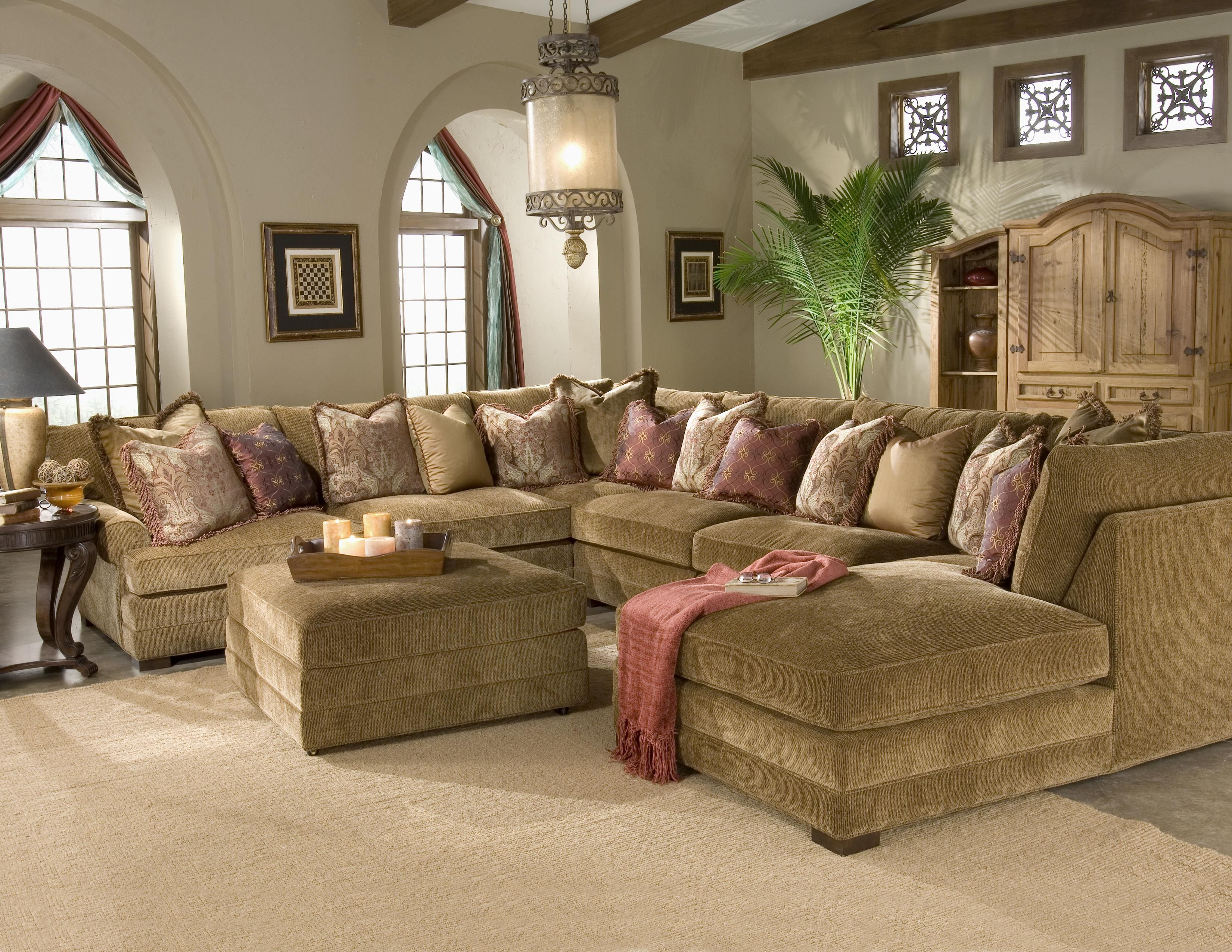 King Hickory Casbah Transitional U Shaped Sectional Sofa Godby