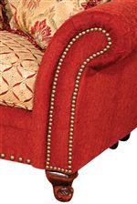 Rolled Arms, Elegant Feet and Bold Nailhead Trim add High Style and Traditional Details