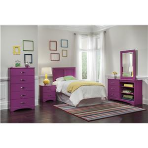 Kith Furniture 171 Raspberry Dresser with Three Drawers and Two Shelves