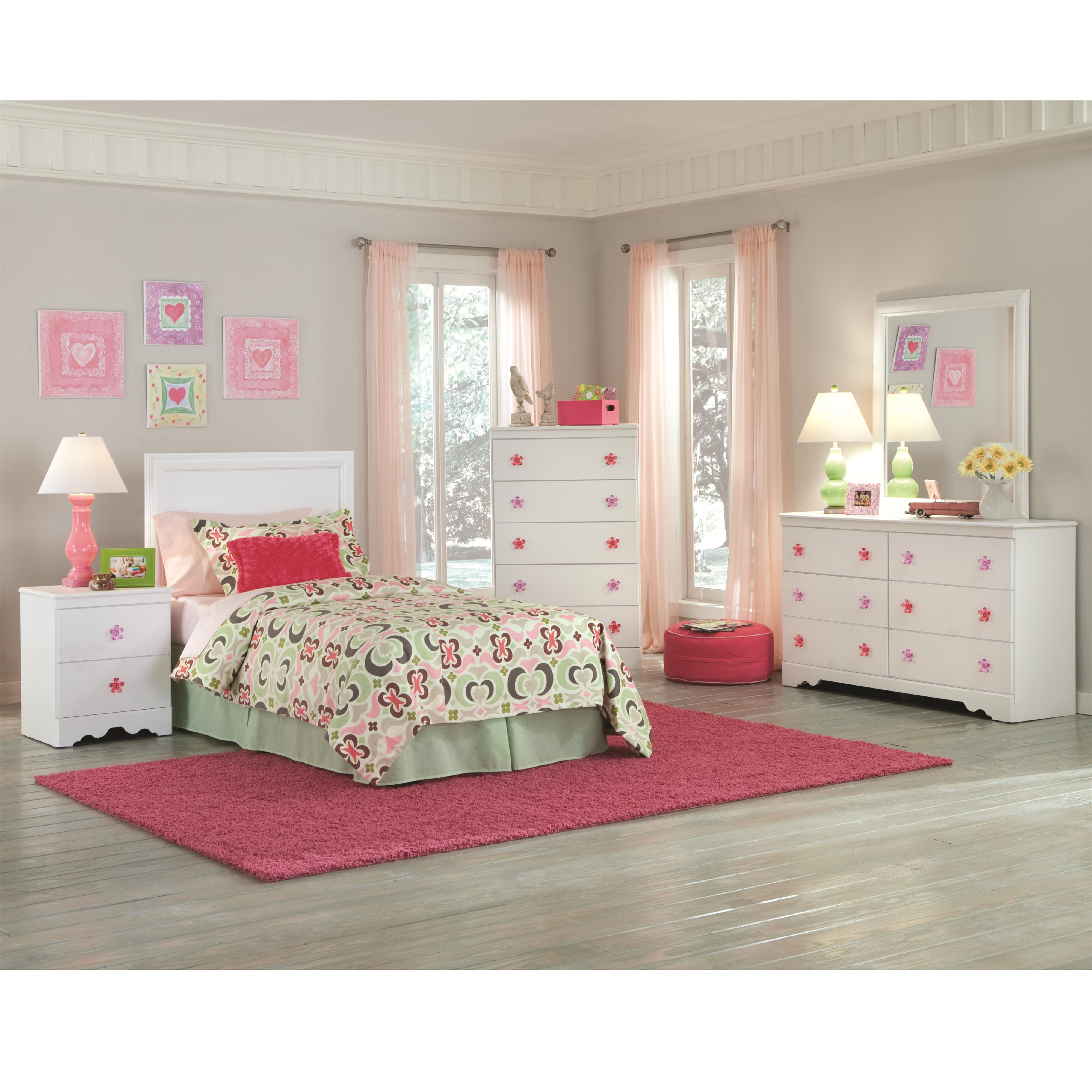 Kith Furniture Savannah 2 Drawer Night Stand With Flower Shaped Handles |  Standard Furniture | Night Stand Birmingham, Huntsville, Hoover, Decatur,  ...
