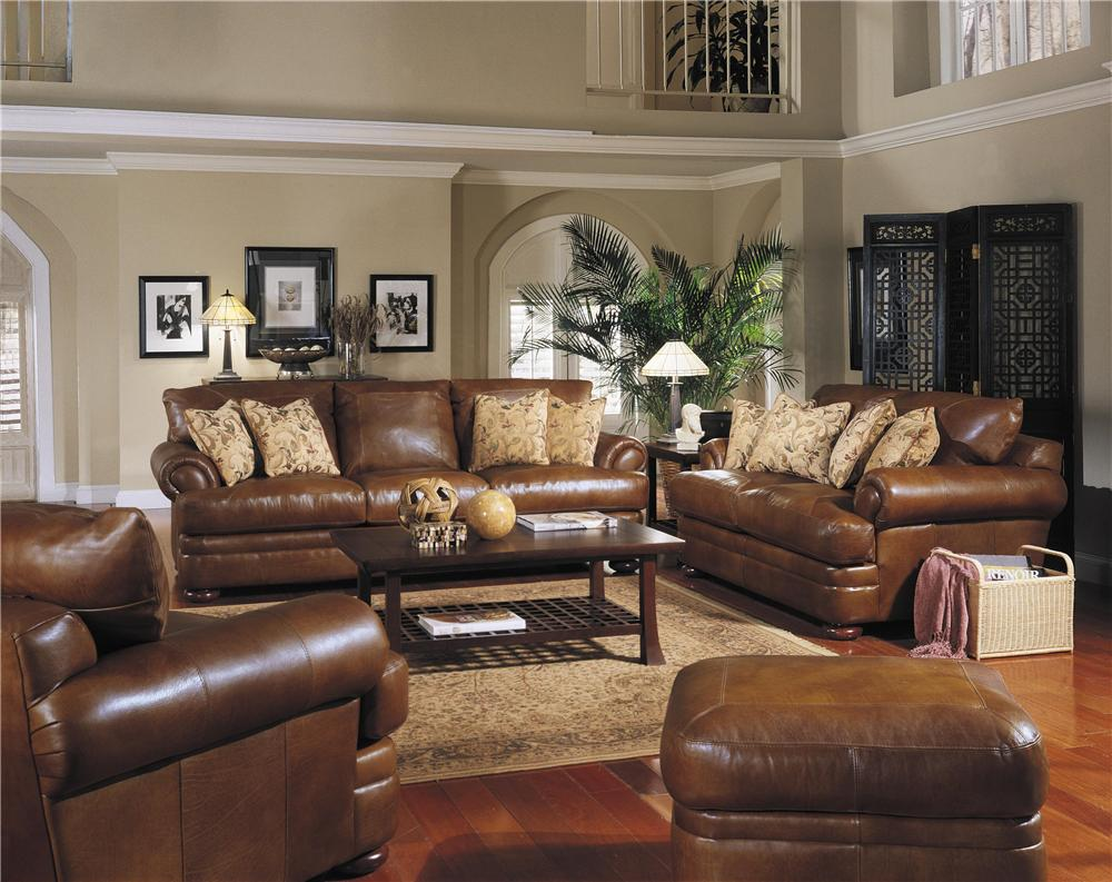Klaussner Montezuma Casual Style Leather Sofa With Bun Feet By Home Furnishings Sofas Lesville Carmel Avon Indianapolis Indiana