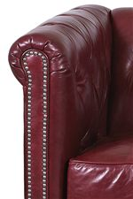 Pleated Rolled Tuxedo Arms with Nailhead Trim