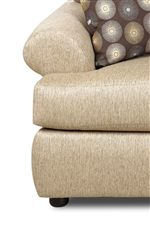 Borderless Rolled Arms and T-Front Cushions Create a Soft, Fluid Shape
