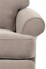 Rolled Arms and T-Seat Cushion with Thick Welted Trim