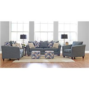 Elliston Place Culpepper Contemporary Chair with Tuxedo Arms