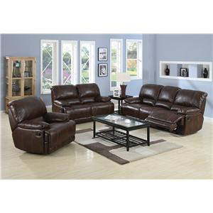 Morris Home Furnishings Darius Stylish Leather Sectional Sofa with Right Facing Chaise