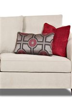 Loose, Knife-edged Back Cushions and Accent Kidney and Arm Pillows